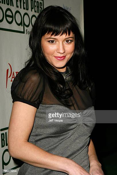 Actress Mary Elizabeth Winstead attends the 4th Annual Peapod Foundation Benefit Concert at Avalon Hollywood on February 7 2008 in Los Angeles...