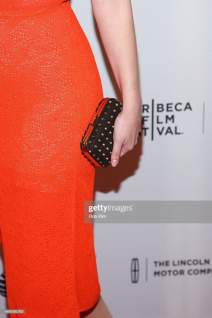 Actress Mary Elizabeth Winstead (clutch detail) attends the 'Alex of Venice' Premiere during the 2014 Tribeca Film Festival at SVA Theater on April 18, 2014 in New York City.