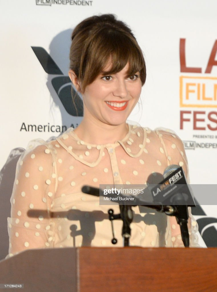 Actress <a gi-track='captionPersonalityLinkClicked' href=/galleries/search?phrase=Mary+Elizabeth+Winstead&family=editorial&specificpeople=782914 ng-click='$event.stopPropagation()'>Mary Elizabeth Winstead</a> attends the Awards Brunch during the 2013 Los Angeles Film Festival at Chaya Downtown on June 23, 2013 in Los Angeles, California.