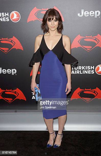 Actress Mary Elizabeth Winstead attends the 'Batman V Superman Dawn Of Justice' New York premiere at Radio City Music Hall on March 20 2016 in New...