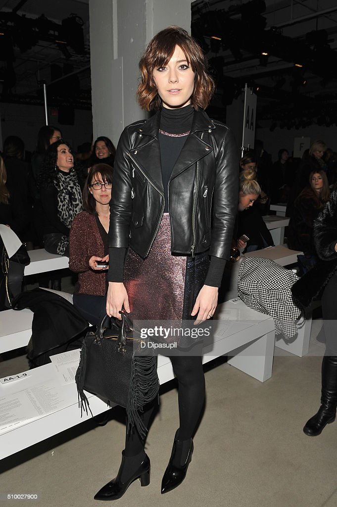 Actress, <a gi-track='captionPersonalityLinkClicked' href=/galleries/search?phrase=Mary+Elizabeth+Winstead&family=editorial&specificpeople=782914 ng-click='$event.stopPropagation()'>Mary Elizabeth Winstead</a>, attends the Rebecca Minkoff Fall 2016 fashion show during New York Fashion Week: The Shows at The Gallery, Skylight at Clarkson Sq on February 13, 2016 in New York City.
