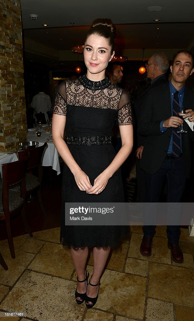Actress <a gi-track='captionPersonalityLinkClicked' href=/galleries/search?phrase=Mary+Elizabeth+Winstead&family=editorial&specificpeople=782914 ng-click='$event.stopPropagation()'>Mary Elizabeth Winstead</a> attends the Sony Pictures cocktail hour during the 2012 Toronto International Film Festival at the Creme Brasserie on September 8, 2012 in Toronto, Canada.