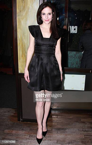 Actress Mary Louise Parker poses as she arrives for The Opening Night of Sarah Ruel's 'Dead Man's Cell Phone' at The West Bank Cafe on March 4 2008...