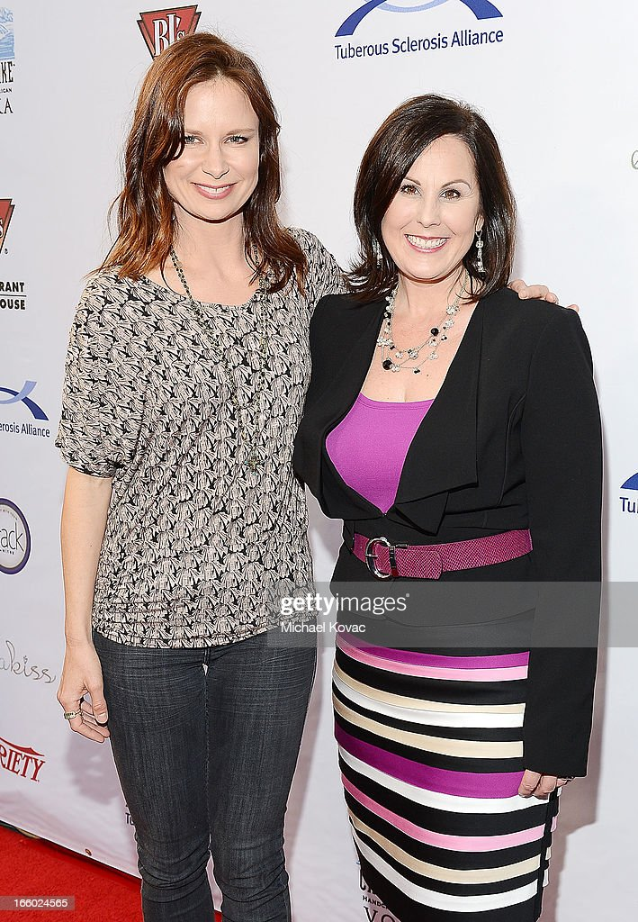 Actress Mary Lynn Rajskub (L) and TS Alliance CEO Kari Luther Rosbeck attend the Tuberous Sclerosis Alliance Comedy For A Cure 2013 at Lure on April 7, 2013 in Hollywood, California.