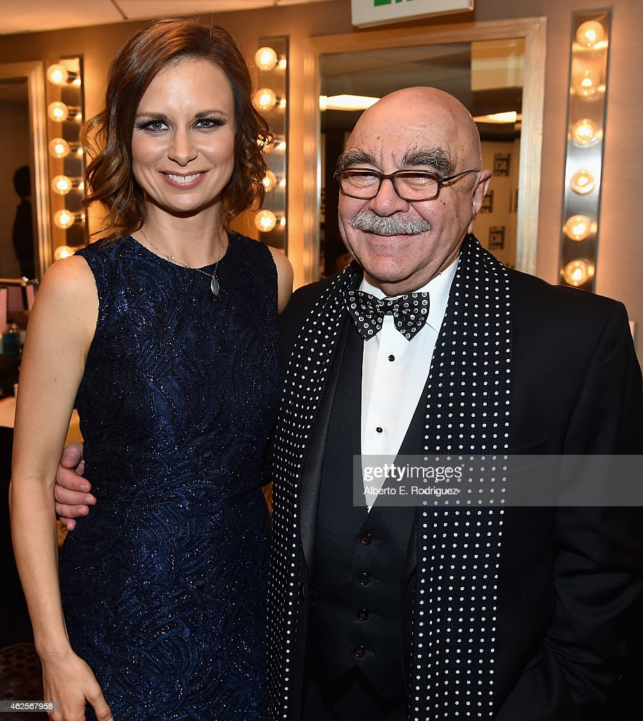 Actress Mary Lynn Rajskub and American Cinema Editors President Alan Heim attend the 65th Annual ACE Eddie Awards at The Beverly Hilton Hotel on...