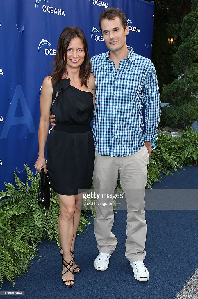 Actress Mary Lynn Rajskub (L) and husband Matthew Rolph attend Oceana's 6th Annual SeaChange Summer Party at Villa di Sogni on August 18, 2013 in Laguna Beach, California.