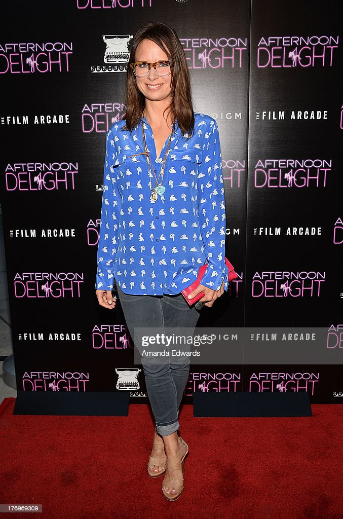 Actress Mary Lynn Rajskub arrives at the Los Angeles premiere of 'Afternoon Delight' at ArcLight Hollywood on August 19, 2013 in Hollywood, California.