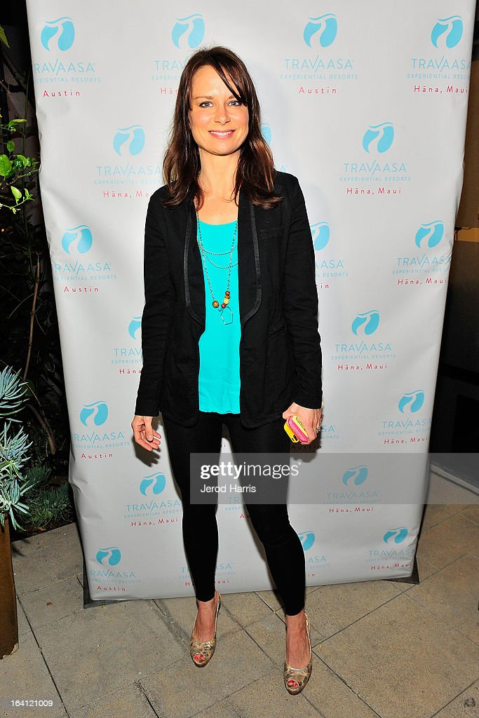 Actress Mary Lynn Rajskub attends Travaasa Resorts official LA experience event at Kinara Spa on March 19, 2013 in Los Angeles, California.