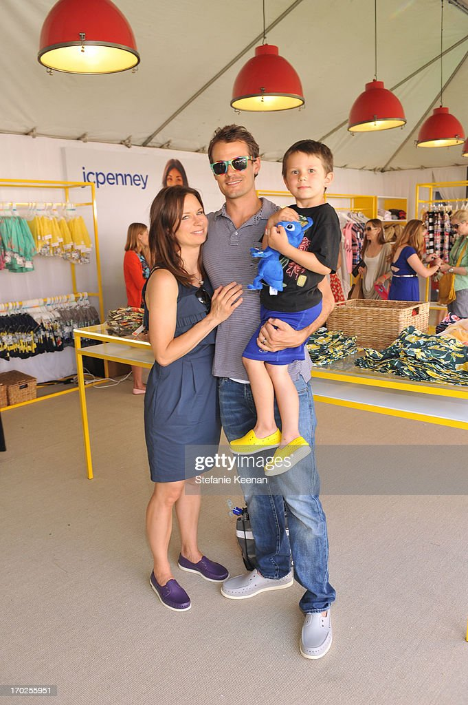 Actress Mary Lynn Rajskub, Matthew Rolph, and Valentine Anthony Rolph attend the 1st Annual Children Mending Hearts Style Sunday on June 9, 2013 in Beverly Hills, California.