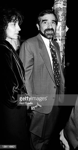 Actress Mary Mastrantonio and director Martin Scorcese on October 8 1986 at the Ziegfeld Theater in New York City