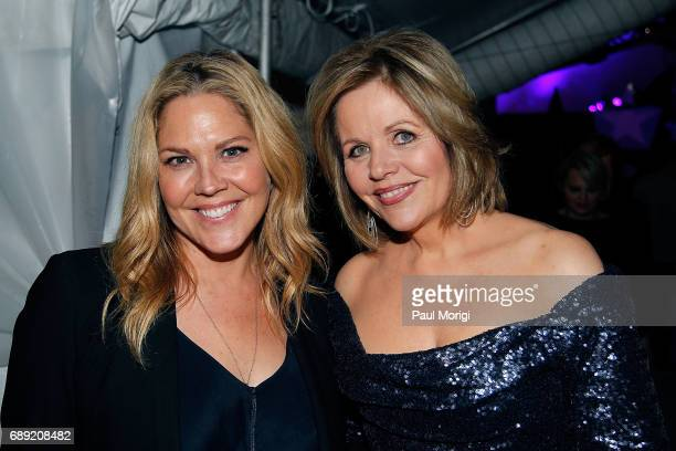 Actress Mary McCormack of 'In Plain Sight' and Grammy Awardwinning classical music artist Renee Fleming backstage at PBS' 2017 National Memorial Day...
