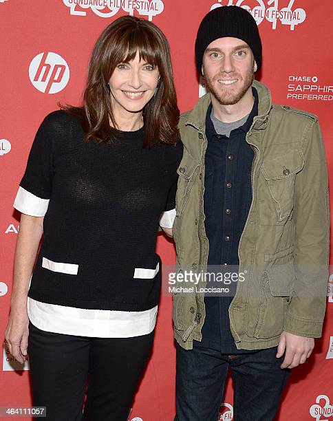 Actress Mary Steenburgen and son writer/director Charlie McDowell attend the premiere of 'Song One' at the Eccles Center Theatre during the 2014...