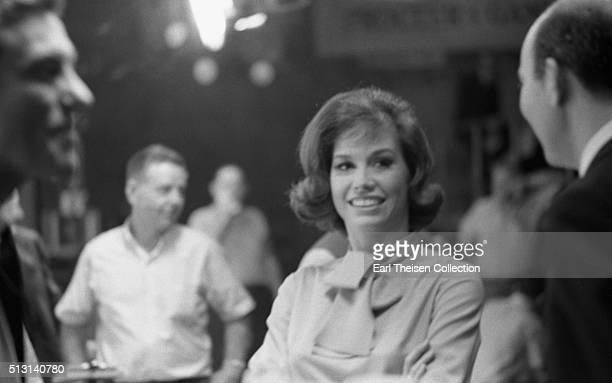 Actress Mary Tyler Moore in rehearsal for The Dick Van Dyke Show on December 2 1963 in Los Angeles California