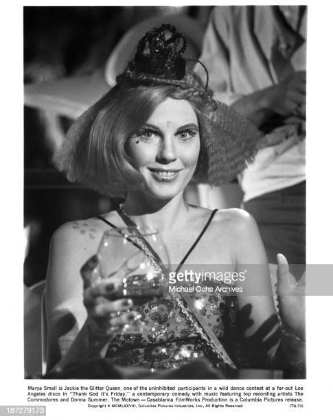Actress Marya Small on the set of the Columbia Pictures movie ' Thank God It's Friday' in 1978