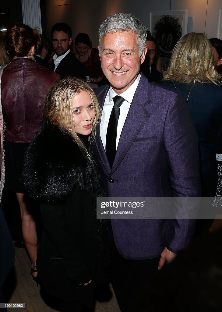 Actress <a gi-track='captionPersonalityLinkClicked' href=/galleries/search?phrase=Mary-Kate+Olsen&family=editorial&specificpeople=156430 ng-click='$event.stopPropagation()'>Mary-Kate Olsen</a> and artist David Kratz attend the 2013 Tribeca Ball at New York Academy of Art on April 8, 2013 in New York City.