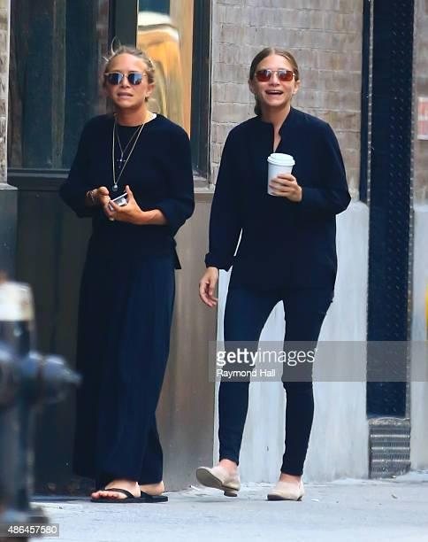 Actress MaryKate Olsen Ashley Olsen is seen in Soho on September 4 2015 in New York City