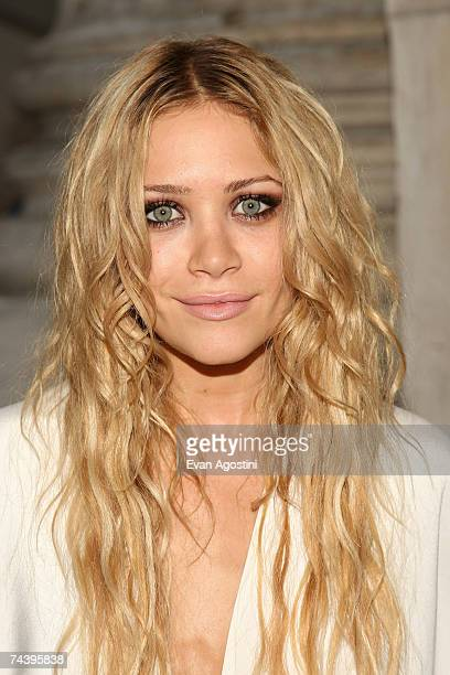 Actress MaryKate Olsen poses inside during the 25th Anniversary of the Annual CFDA Fashion Awards held at the New York Public Library June 4 2007 in...