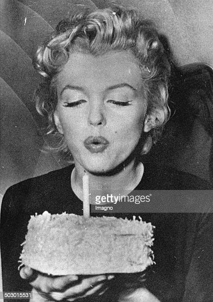 Actress Marylin Monroe on her 30tiest birthday Photograph 1956