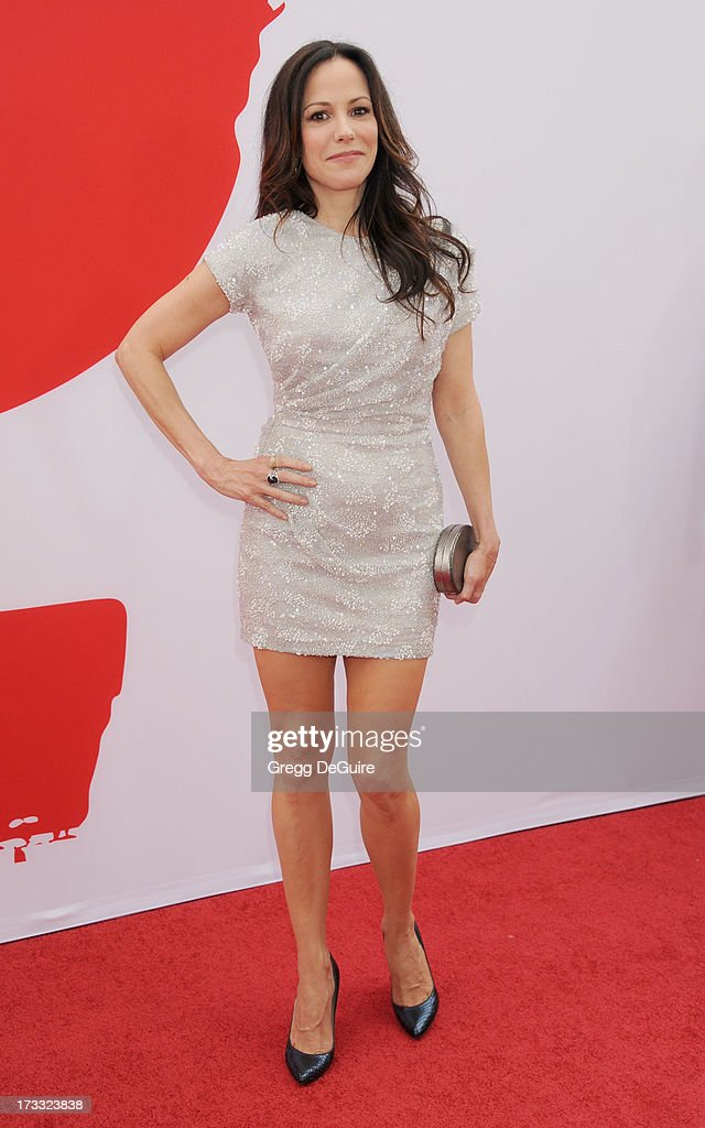 Actress Mary-Louise Parker arrives at the Los Angeles premiere of 'Red 2' at Westwood Village on July 11, 2013 in Los Angeles, California.