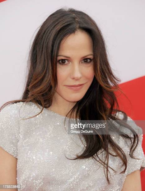 Actress MaryLouise Parker arrives at the Los Angeles premiere of 'Red 2' at Westwood Village on July 11 2013 in Los Angeles California