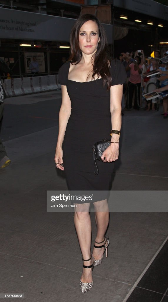 Actress Mary-Louise Parker attends The Cinema Society & Bally screening of Summit Entertainment's 'Red 2' at the Museum of Modern Art on July 16, 2013 in New York City.