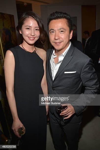 Actress Masami Nagasawa and James Wang chief executive officer of Huayi Brothers Media Corp attend the Huayi Brothers At 20 Party during the 67th...