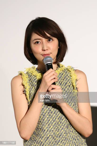 Actress Masami Nagasawa attends 'Beyond the Memories' stage greeting during the 26th Tokyo International Film Festival at Roppongi Hills on October...