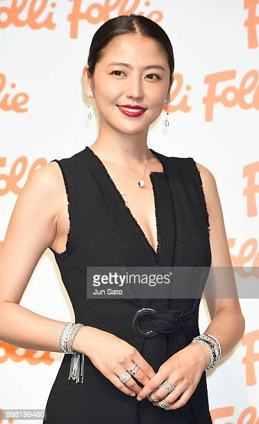 Actress Masami Nagasawa attends the Folli Follie 2016 AW Global Campaign 'I am Folli Follie' event at the Garden Room on September 1 2016 in Tokyo...