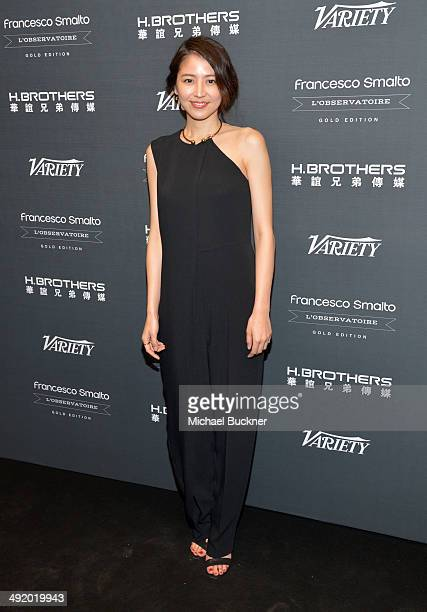 Actress Masami Nagasawa attends the Huayi Brothers At 20 Party during the 67th Annual Cannes Film Festival at L'Observatoire Francesco Smalto on May...