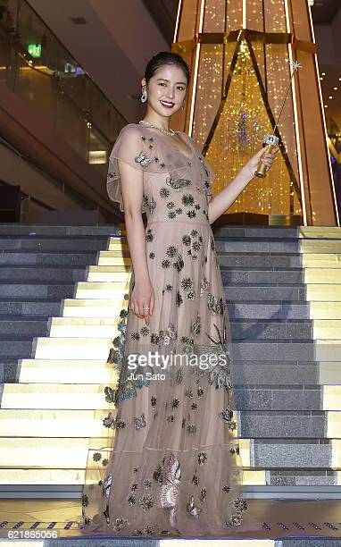 Actress Masami Nagasawa attends the Omotesando Hills Christmas 2016 lightingup ceremony on November 9 2016 in Tokyo Japan