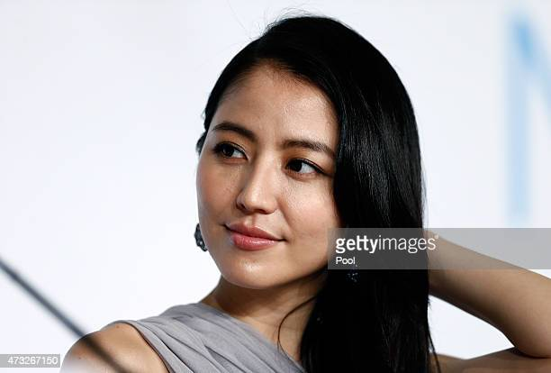 Actress Masami Nagasawa attends the press conference for 'Umimachi Diary' during the 68th annual Cannes Film Festival on May 14 2015 in Cannes France