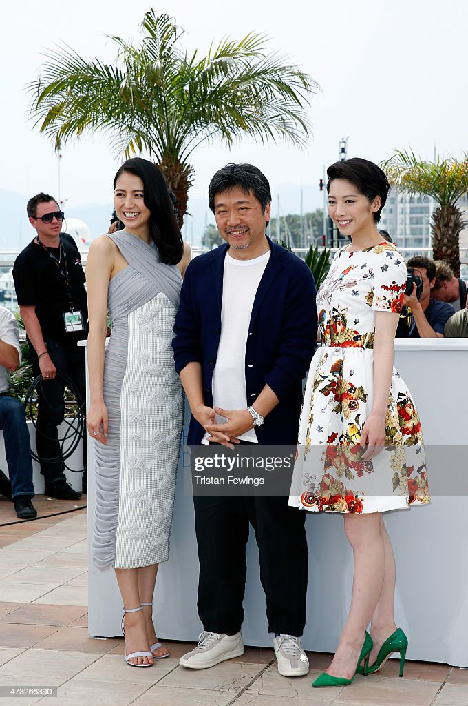 Actress Masami Nagasawa, director Hirokazu Koreeda and actress Kaho attend a photocall for 'Umimachi Diary' ('Our Little Sister') during the 68th annual Cannes Film Festival on May 14, 2015 in Cannes, France.