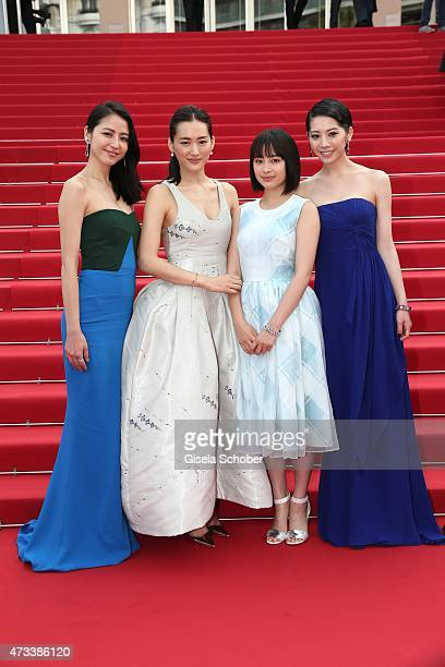 Actress Masami Nagasawa Haruka Ayase Suzu Hirose Kaho depart the Premiere of 'Umimachi Diary' during the 68th annual Cannes Film Festival on May 14...