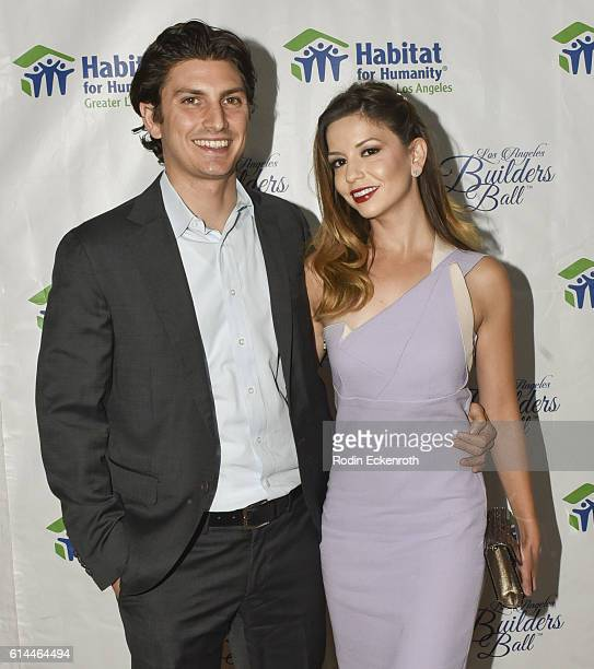Actress Masiela Lusha and husband Ramzi Habibi attend the Habitat LA 2016 Los Angeles Builders Ball at Regent Beverly Wilshire Hotel on October 13...