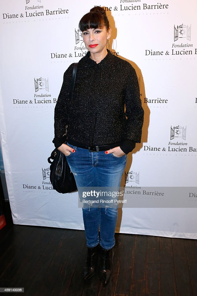 Actress Mathilda May attends 'Les Heritiers' receives Cinema Award 2014 of Foundation Diane & Lucien Barriere during the premiere of the movie at Publicis Champs Elysees on November 17, 2014 in Paris, France.
