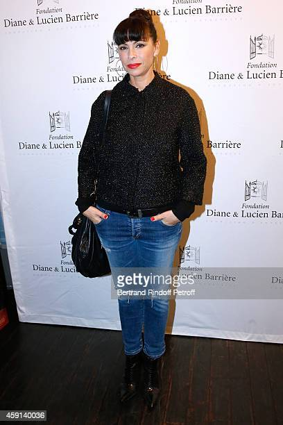 Actress Mathilda May attends 'Les Heritiers' receives Cinema Award 2014 of Foundation Diane Lucien Barriere during the premiere of the movie at...