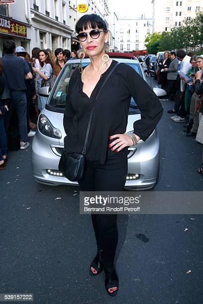 Actress Mathilda May attends the '55 Politiques' Exhibition of Stephanie Murat's Pictures Opening Party at Galerie Dupin on June 9 2016 in Paris...