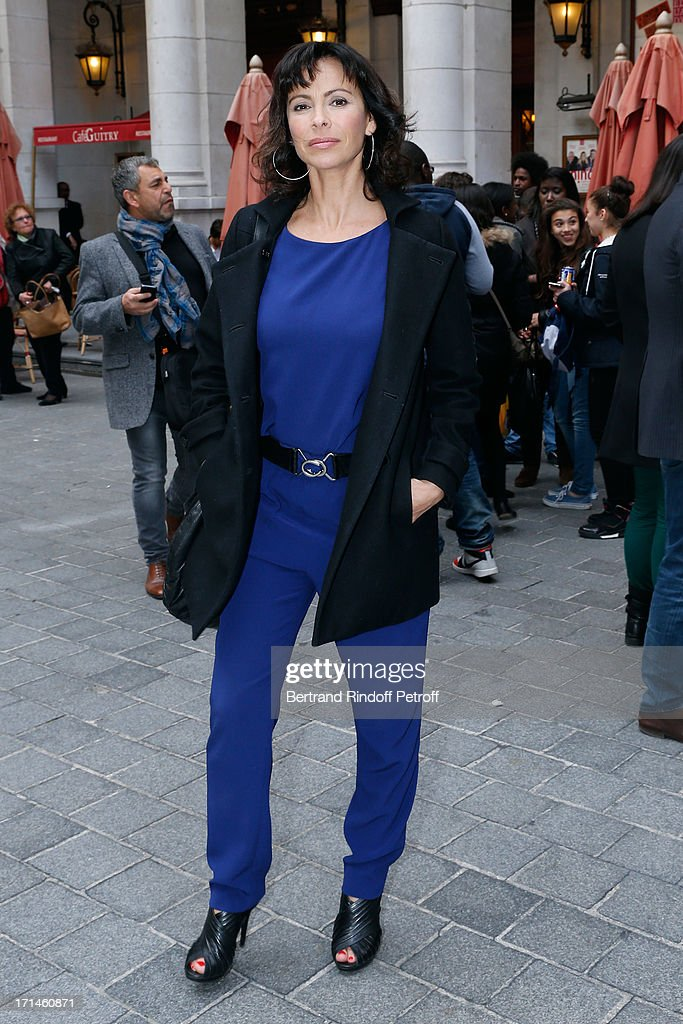 Actress Mathilda May attends the Ary Abittan performance at Theater Edouard VII benefiting 'Un Coeur Pour La Paix' on June 24, 2013 in Paris, France.