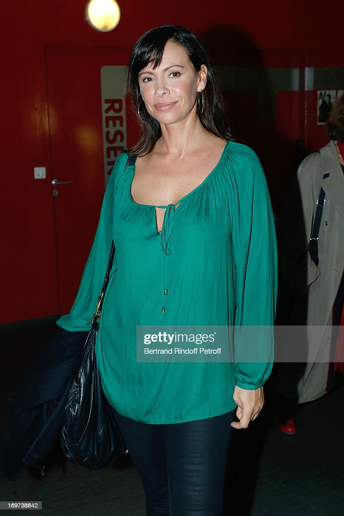 Actress Mathilda May backstage after Patrick Bruel's concert at Zenith de Paris on May 31, 2013 in Paris, France.