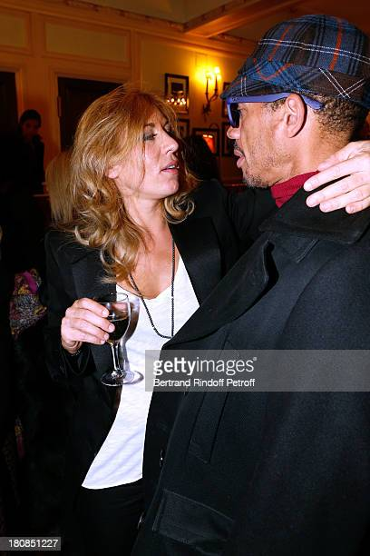 Actress Mathilde Seigner and Singer JoeyStarr after 'Nina' Premiere at Theatre Edouard VII on September 16 2013 in Paris France