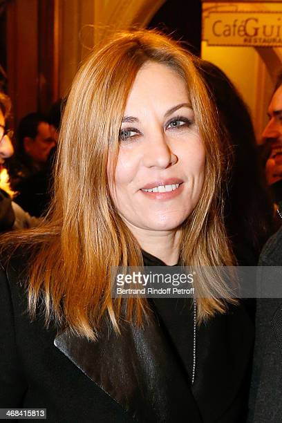 Actress Mathilde Seigner attends 'La Porte a Cote' Theater Play premiere Held at Theatre Edouard VII on February 10 2014 in Paris France