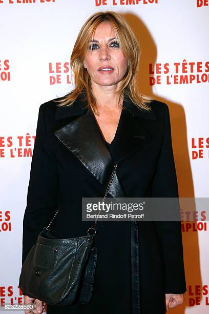 Actress Mathilde Seigner attends 'Les Tetes de l''Emploi' Paris Premiere at Cinema Gaumont Opera Capucines on November 14 2016 in Paris France