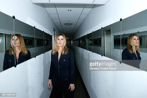 Actress Mathilde Seigner attends the 'Vivement Dimanche' French TV Show at Pavillon Gabriel on December 15 2015 in Paris France