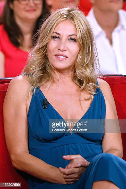 Actress Mathilde Seigner attends 'Vivement Dimanche' French TV Show at Pavillon Gabriel on September 4 2013 in Paris France
