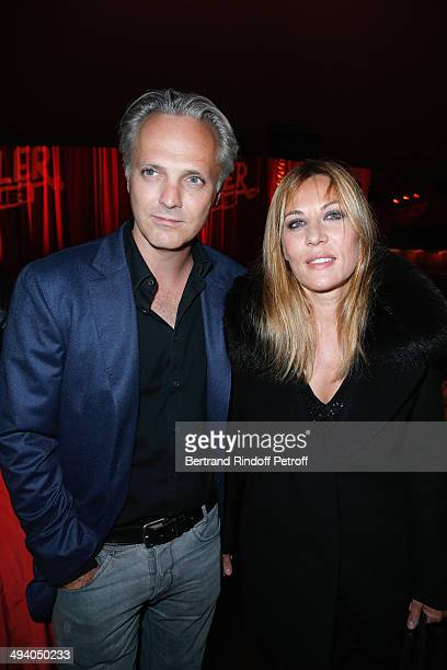 Actress Mathilde Seigner with her companion Mathieu Petit attend the 'Mugler Follies' 100th Edition at Le Comedia in Paris on May 26 2014 in Paris...
