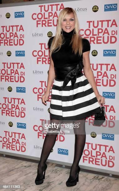 Actress Matilde Brandi attends 'Tutta colpa di Freud' premiere at Teatro dell'Opera on January 20 2014 in Rome Italy