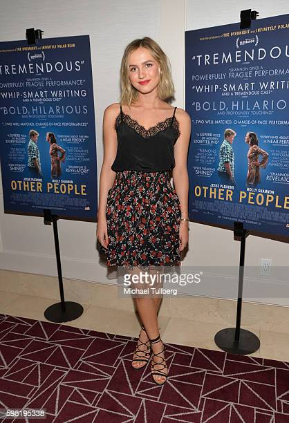 Actress Maude Apatow attends the premiere of Vertical Entertainment's 'Other People' at The London West Hollywood on August 31 2016 in West Hollywood...