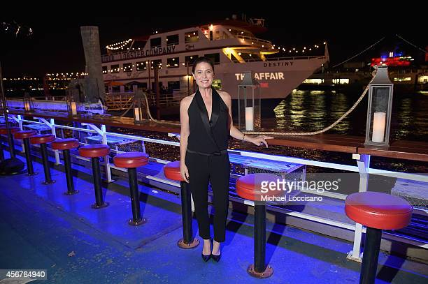 Actress Maura Tierney attends premiere of SHOWTIME drama 'The Affair' held at North River Lobster Company on October 6 2014 in New York City