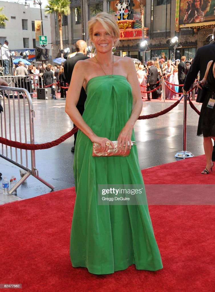 Actress Maura West arrives at the 35th Annual Daytime Emmy Awards at the Kodak Theatre on June 20, 2008 in Los Angeles, California.