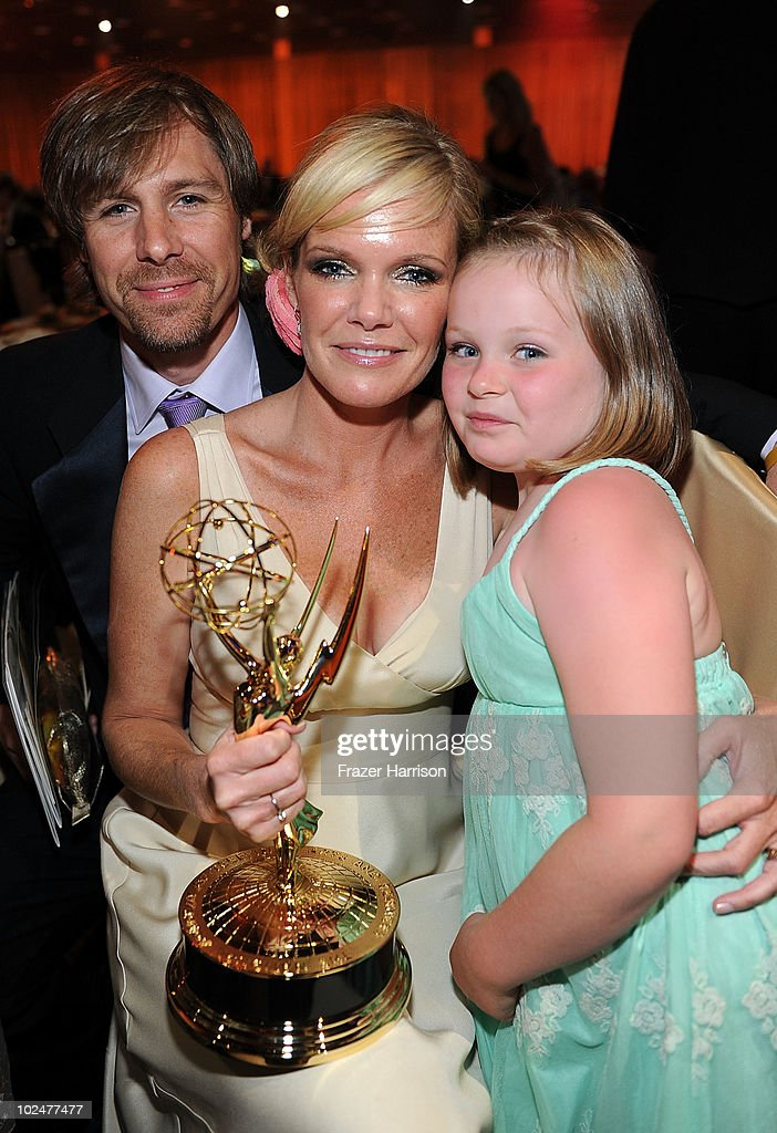 Actress <a gi-track='captionPersonalityLinkClicked' href=/galleries/search?phrase=Maura+West&family=editorial&specificpeople=808170 ng-click='$event.stopPropagation()'>Maura West</a>, Scott DeFreitas, and daughter Kate DeFreitas attend the 37th Annual Daytime Entertainment Emmy Awards after party held at the Las Vegas Hilton on June 27, 2010 in Las Vegas, Nevada.